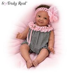 So Truly Real® doll inspired by our third annual baby photo contest winner. RealTouch vinyl, weighted to feel like a real baby. Fully poseable.