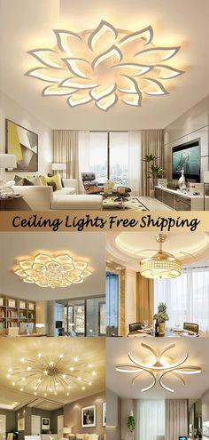 Room Design Bedroom, Living Room Bedroom, Bedroom Decor, Home Yoga Room, Elegant Curtains, House Inside, Led Ceiling Lights, House Layouts, Living Room Lighting