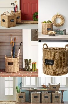 i'm obsessed with these storage baskets!  Perfect for use in the foyer, laundry room, living room, bedroom or playroom.