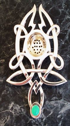 absinthe spoon with celtic knot work