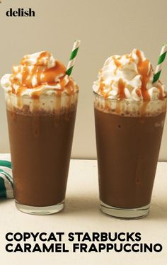 This Copycat Starbucks Caramel Frappuccino Is SO Easy To Make At Home Delish Starbucks Caramel Frappuccino, Mocha Frappe Recipe, Tea Recipes, Cooking Recipes, Fondue Recipes, Ninja Recipes, Breakfast Recipes, Recipies, Cocoa Drink
