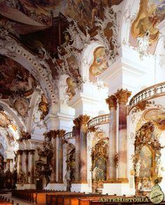 Escuela de arq. de Vorarlberg. Iglesia de la abadía de Zwiefalten. Johan Emmanuel Fischer