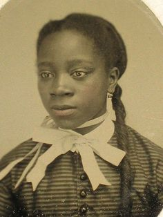 "Ancient Beauty | 1860s – Civil War era tintype photograph of a young African American woman. Via Black History Album…The Way We Were"" on Pinterest 