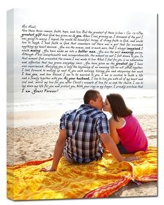 Your engagement photos combined with one of the first love letters he ever wrote you. #sosweet