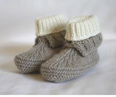 Looking for knitting project inspiration? Check out  Baby booties by member KnitMotion. - via @Craftsy