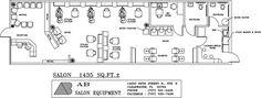 1435 Square Foot Salon Design by AB Salon Equipment