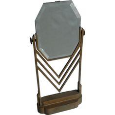 Art Deco Chevron Table Mirror