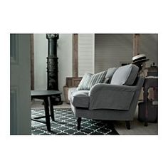STOCKSUND Sofa, Ljungen gray, black/wood - Ljungen gray - black - IKEA