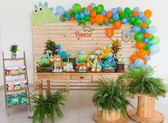 Boys First Birthday Party Ideas, Dragon Birthday Parties, Dinosaur Birthday Party, Birthday Party Themes, Lion Birthday, Fourth Birthday, Baby Boy Birthday, Safari Party, Birthday Decorations