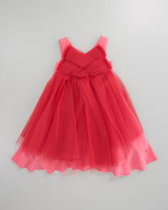 Baby Dior Tulle Dress, Sizes 5-8 - Neiman Marcus   Love the coral color!!