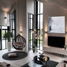 22 Contemporary Living Room Furniture Ideas - 5 Important Points To Decorate It - Additionally, it May even look hard to accomplish a contemporary style at per day to day liveable space having a budget. Scandi Living Room, Simple Living Room, Living Room Interior, Home Living Room, Living Room Decor, Small Living, Luxury Living Rooms, Cozy Living, Home Room Design
