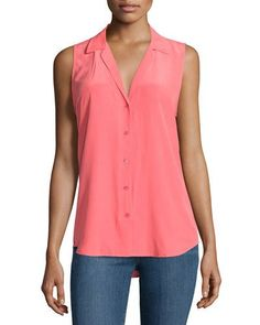 Equipment Adalyn Sleeveless Silk Blouse, Paradise Pink New offer @@@ Price :$188 Price Sale $99