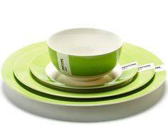 PANTONE Bowl & Plates - Bright Green 376C - Tableware - Pantone by Luca Trazzi for Serax