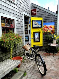 Nantucket. I'd love to ride a bike around the town and shops.