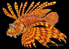 Items Similar To Lionfish 2 Colored Pencil Drawing