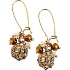 Betsey Johnson Iconic Topaz Fireball Drop Earring ($30)