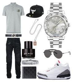 """Casual"" by pitbull8382 on Polyvore featuring Rolex, Givenchy, Balmain, Gucci, NIKE, Kenneth Cole, New Era, Marco Ta Moko, men's fashion and menswear"
