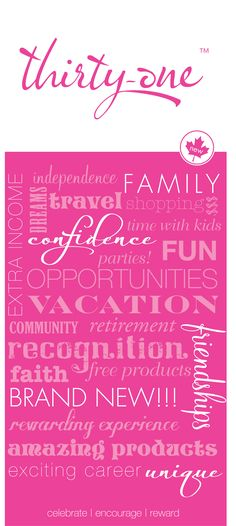 The opportunities are endless with Thirty-One You DESERVE an opportunity like this! contact me!