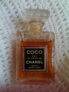 ESTATE FIND--Coco Chanel Eau De Parfum-Ladies Vintage Miniature Perfume Bottle