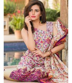 Signature Icon Embroidered Lawn Collection 2016 ZS_1A