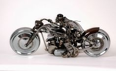 Sculpture Made Out Of Old Car Parts