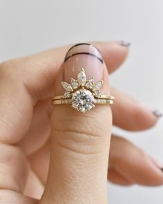 wedding rings boho Chic + Cheeky Nail Art Ideas for Your Bridal Manicure - Green Wedding Shoes Boho Engagement Ring, Designer Engagement Rings, Engagement Ring Settings, Diamond Engagement Rings, Justine, Ring Verlobung, Solitaire Ring, Tiara Ring, To Infinity And Beyond