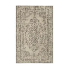 NEW-West-Elm-Distressed-Arabesque-6-034-x-9-034-Wool-Rug-Neutral-Pottery-Barn
