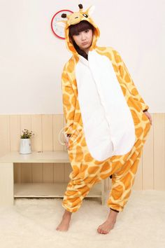 PajamasBuy - Onesies Hoodie Giraffe Pajamas Fleece Animal Costume Kigurumi, $26.50 (http://www.pajamasbuy.com/products/onesies-hoodie-giraffe-pajamas-fleece-animal-costume-kigurumi.html)