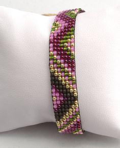 Loom Beaded Bracelet by Artlox on Etsy