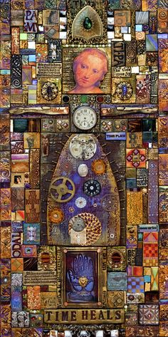 Time Heals by Laurie Mika... a favorite artist of mine. I HOPE to take a workshop with her one of these days!!!