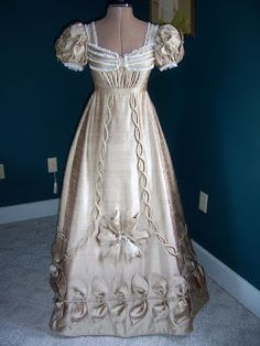Chantal's Studio: 1820 Ball Gown Reproduction