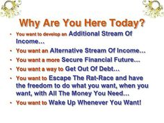 Safe Shop, Rat Race, The Freedom, Income Streams, Get Out Of Debt, Online Marketing