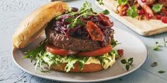 Bakt potet med 3 deilige toppinger | Coop Mega Scampi, Low Carb Recipes, Tapas, Hamburger, Steak, Bacon, Beef, Food, Low Carb
