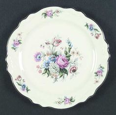 (Virginia Rose) Dinner Plate by Homer Laughlin Syracuse China, Homer Laughlin, Vegetable Bowl, Pie Plate, China Patterns, China Dinnerware, Serving Platters, Fine China, Dinner Plates
