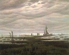 Flat country shank at Bay of Greifswald, 1834, Caspar David Friedrich