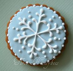 Beautiful snowflake cookie.