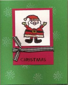 Santa Crayon Christmas by kewlyloch - Cards and Paper Crafts at Splitcoaststampers