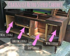 From Speakers To Wine Rack: Transforming Our Retro Stereo Cabinet