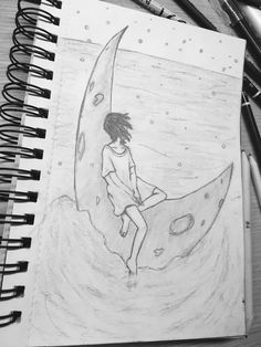 Moon Art, Drawings, Drawing, Grimm, Doodle, Draw, Illustrations