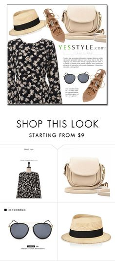 """YESSTYLE.com"" by monmondefou ❤ liked on Polyvore featuring UPTOWNHOLIC, BeiBaoBao, KOON, Eugenia Kim, Steve Madden, party, springfashion and yesstyle"