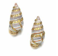 suzanne belperron duchess of windsor shell earrings - 1968