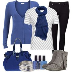 """Comfy Blues"" by heather-rolin on Polyvore"