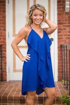 Flow You Better Dress, Blue