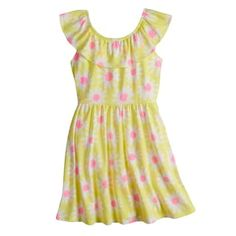 cc811e3754 Girls 4-10 Jumping Beans® Ruffled Neck Skater Dress Jumping Beans