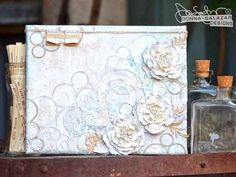 """Becoming Blissful"" Mixed Media Canvas Tutorial by Donna Salazar http://www.spellbindersblog.com/becoming-blissful-mixed-media-canvas-tutorial-donna-salazar/?utm_campaign=coschedule&utm_source=pinterest&utm_medium=Spellbinders&utm_content=%22Becoming%20Blissful%22%20Mixed%20Media%20Canvas%20Tutorial%20by%20Donna%20Salazar"