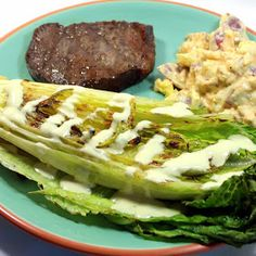 Inspired By eRecipeCards: Grilling Time (Side Dish) - Grilled Romaine Salad with Blue Cheese Vinaigrette