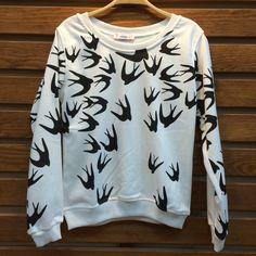 Swallow Printed Sweatshirt Wholesale 6$ article # acte-010