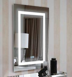 Espejos originales mosaic negro plata decoracion beltran - Cuadros retroiluminados baratos ...