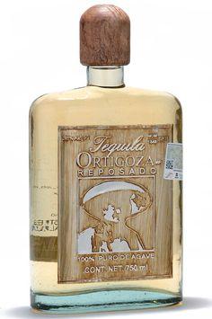 ortigoza tequila - reposado - artesanal bottle