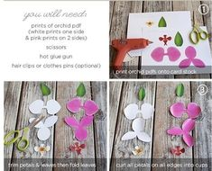 орхидеи из бумаги